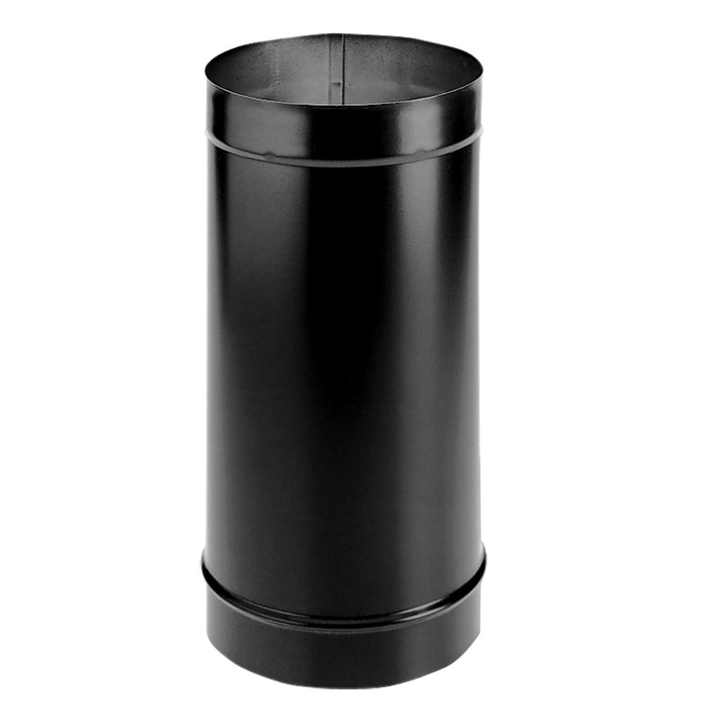 DuraVent DuraBlack 6 in. x 24 in. Single-Wall Chimney Stove Pipe