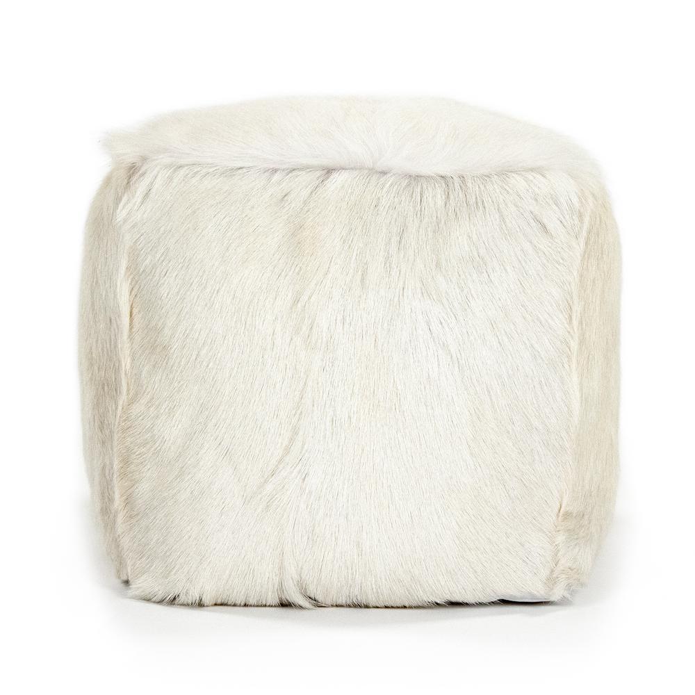 Zentique Tibetan White Goat Fur Pouf was $477.0 now $312.83 (34.0% off)