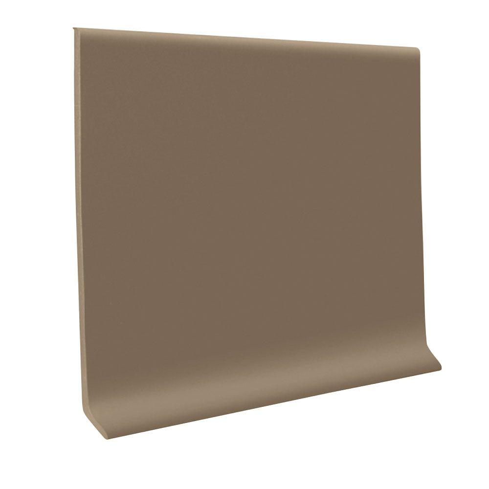 ROPPE 700 Series Fawn 4 in. x 48 in. x 1/8 in. Thermoplastic Rubber Wall Cove Base (30-Pieces)