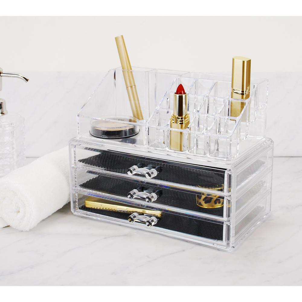 Merveilleux Kiera Grace 16 Compartments/3 Drawers Grace Jewelry And Makeup Organizer 2