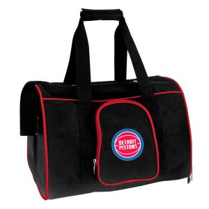 NBA Detroit Pistons Pet Carrier Premium 16 in. Bag in Red
