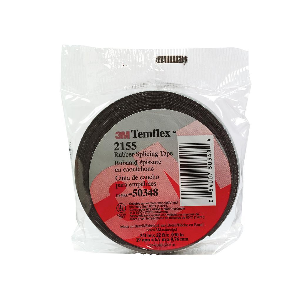 3/4 in. x 22 ft. Temflex Splicing Tape, Black (Case of 10)