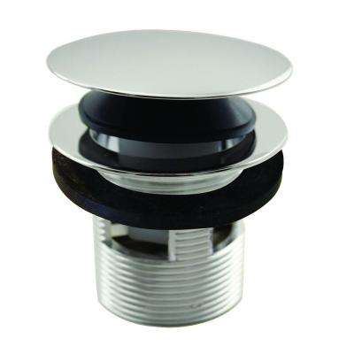 1-1/2 in. NPSM Integrated Overflow Round Tip-Toe Bath Drain with Overflow