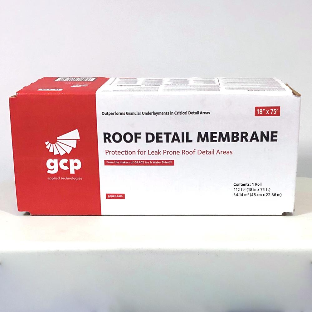 Gcp Applied Technologies Roofing Detail Membrane 18 In X 75 Sq Ft Roll Self Adhered Roofing Underlayment 112 Sq Ft 5003228 The Home Depot