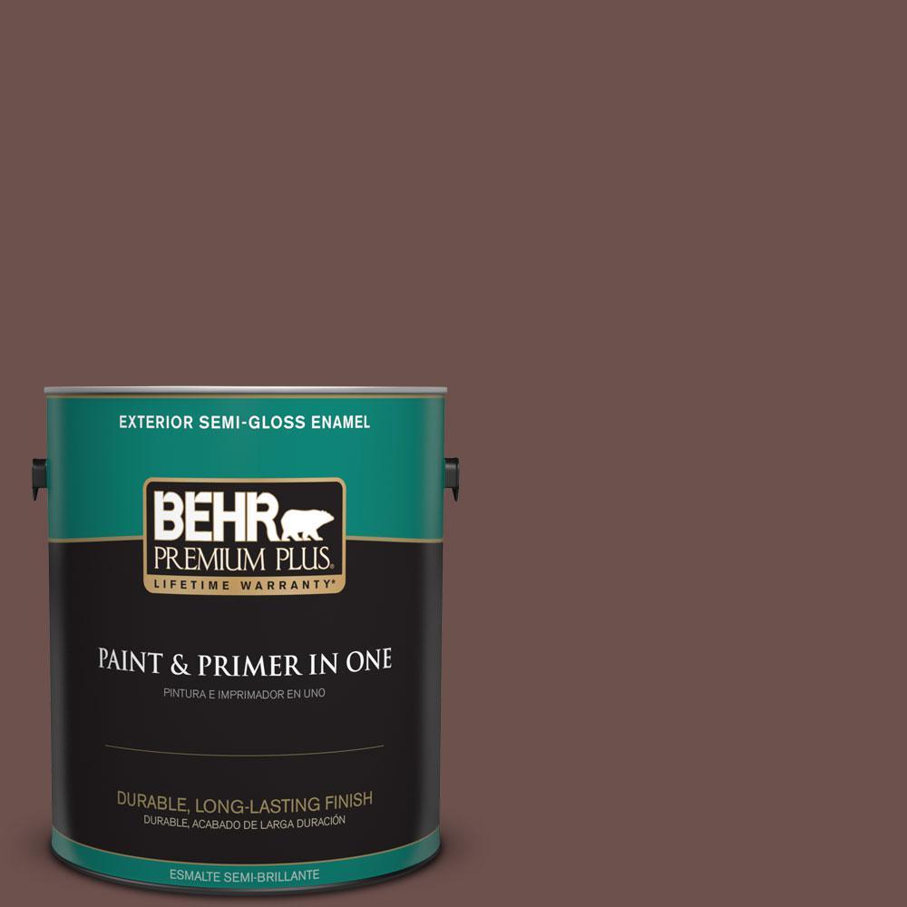 1-gal. #710B-6 Painted Leather Semi-Gloss Enamel Exterior Paint