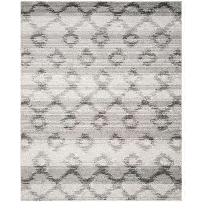 Adirondack Silver/Charcoal 9 ft. x 12 ft. Area Rug