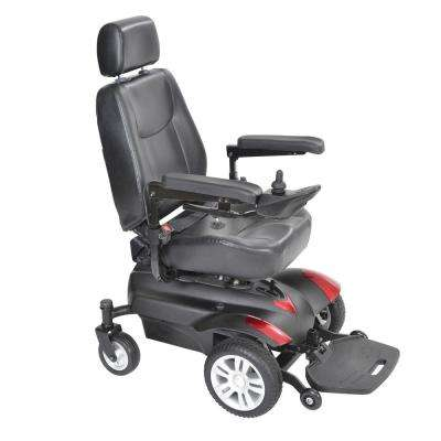Titan Transportable Front-Wheel Power-Wheelchair with Full Back Captain's Seat 16 in. x 18 in.