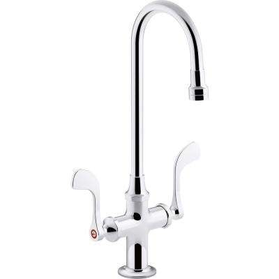 Monoblock Triton Bowe 0.5 GPM 2-Handle Single Hole Bathroom Faucet with Laminar Flow in Polished Chrome