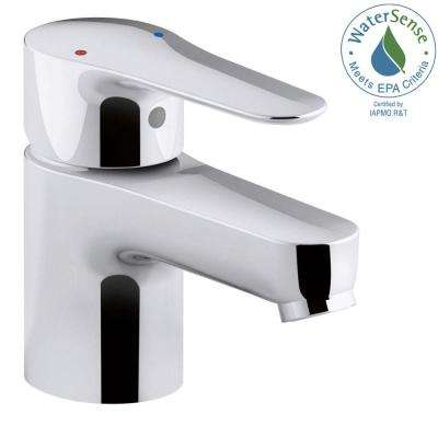 July Single Hole Single Handle Low Arc Bathroom Faucet in Polished Chrome