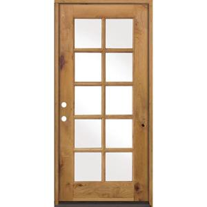 Krosswood doors 32 in x 80 in classic french alder 10 for 36 inch exterior french doors