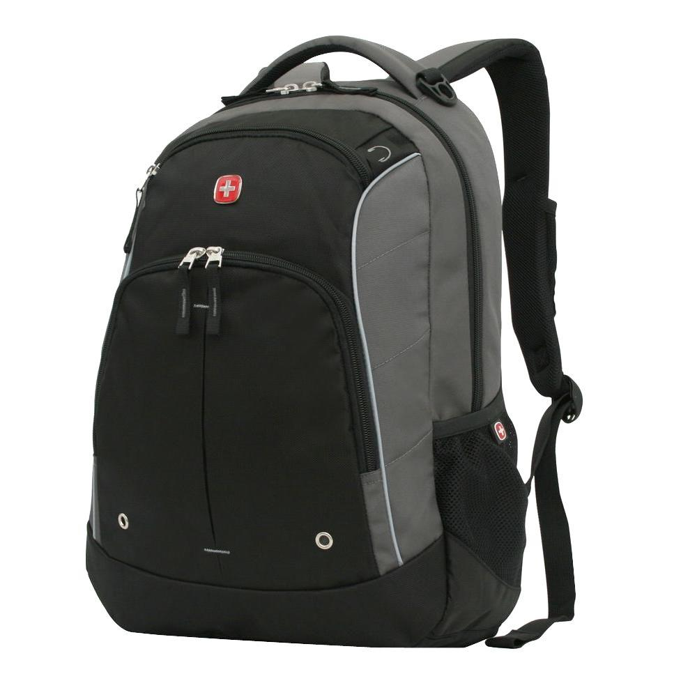 cfa9382f9153 SWISSGEAR Grey and Black Laptop Backpack-17584215 - The Home Depot
