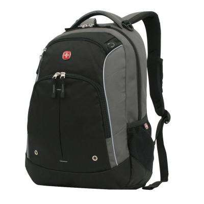 Grey and Black Laptop Backpack