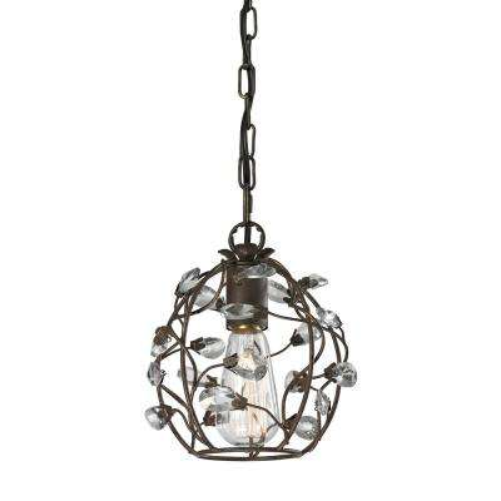 Sagemore 1-Light Bronze Rust Pendant