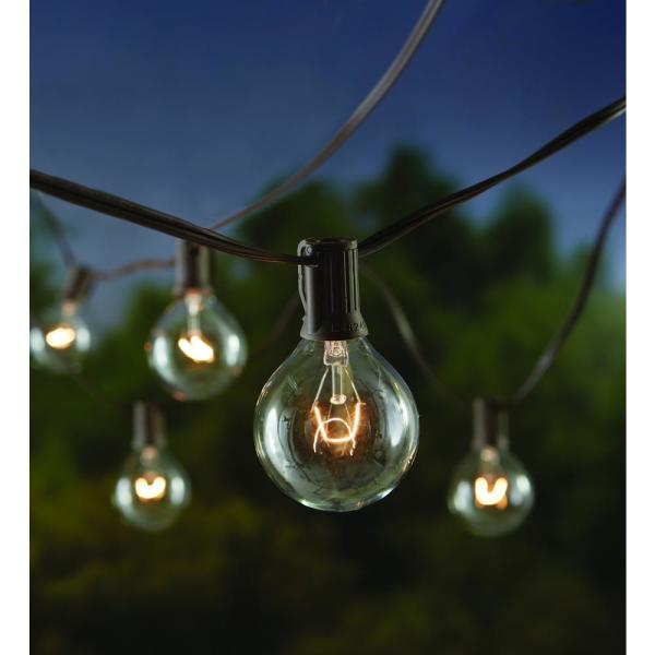 Hampton Bay 12 Ft Line Voltage, Clear Patio String Lights