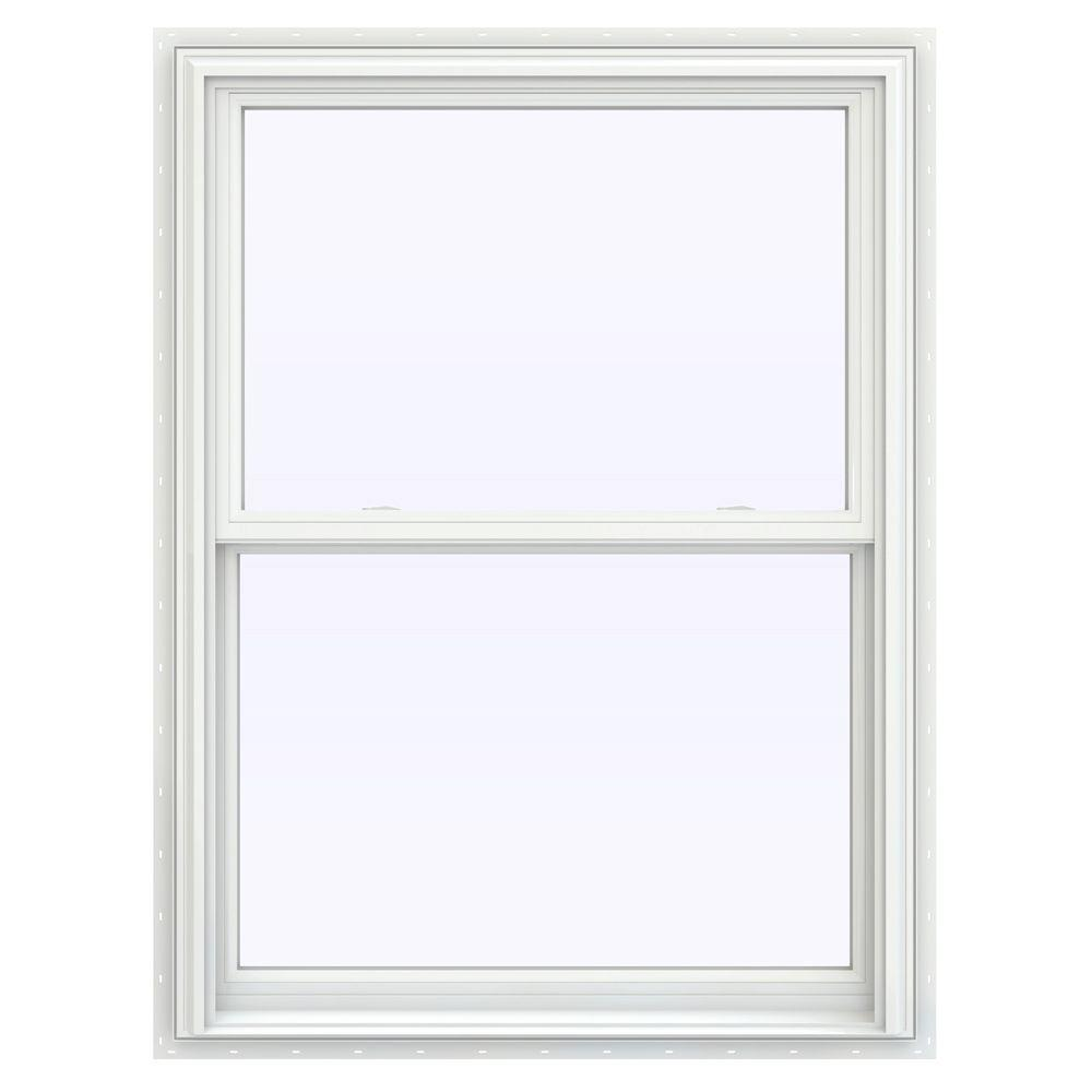35.5 in. x 47.5 in. V-2500 Series Double Hung Vinyl Window