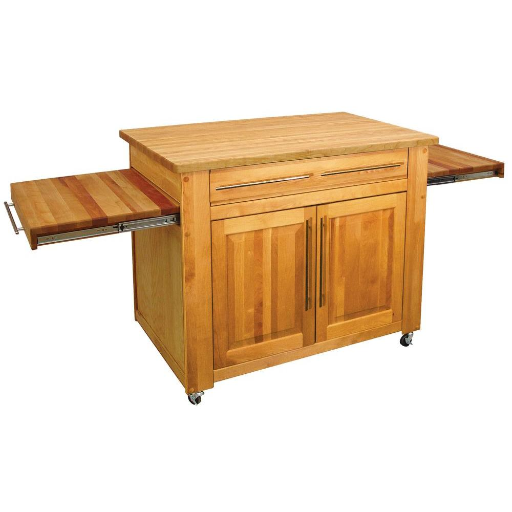 Kitchen Island With Pull Out Table Catskill Craftsmen Catskill Natural Kitchen Island With Pull Out