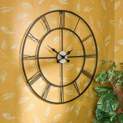 Centurian 30 in. Dia. Metal Wall Clock