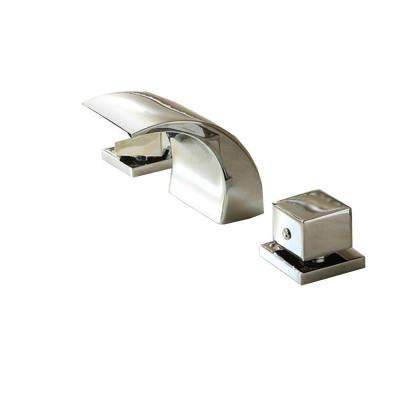 2-Handle Deck-Mount LED Waterfall Roman Tub Faucet in Chrome