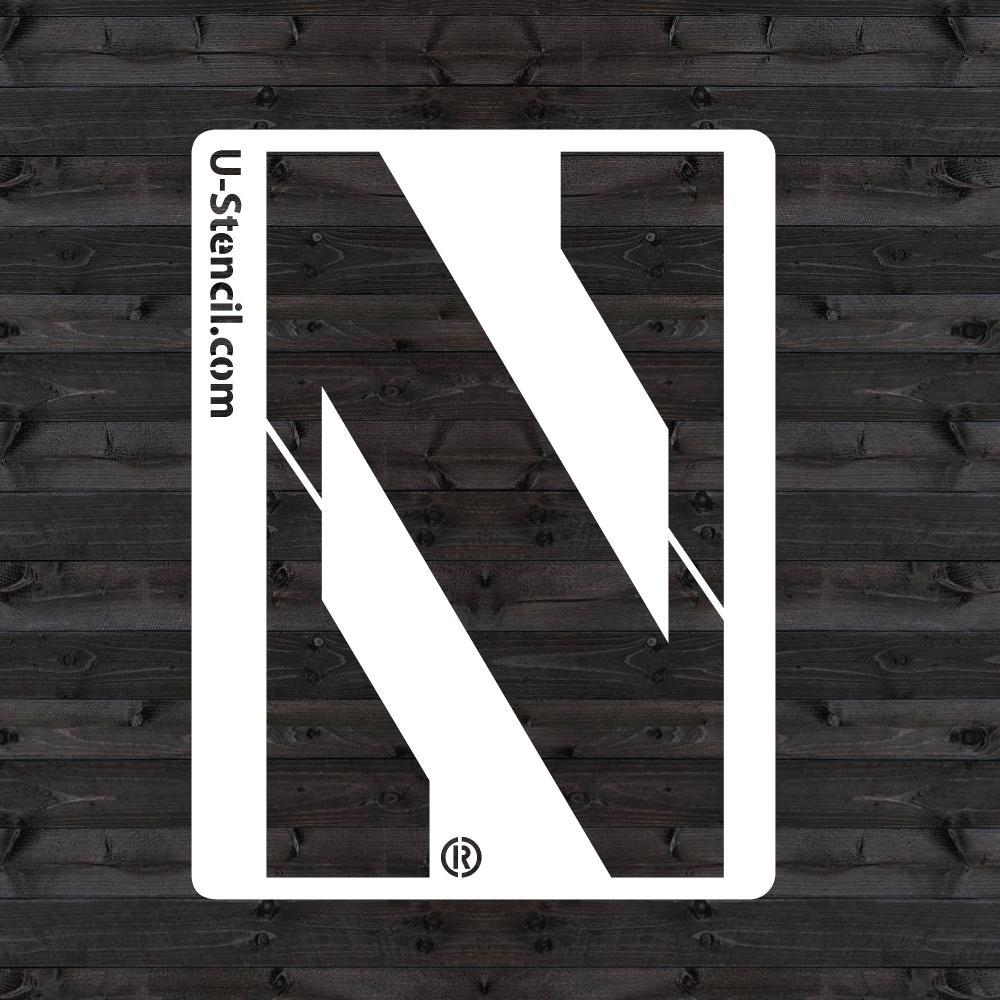 """Northwestern """"N"""" Mini Stencil"""