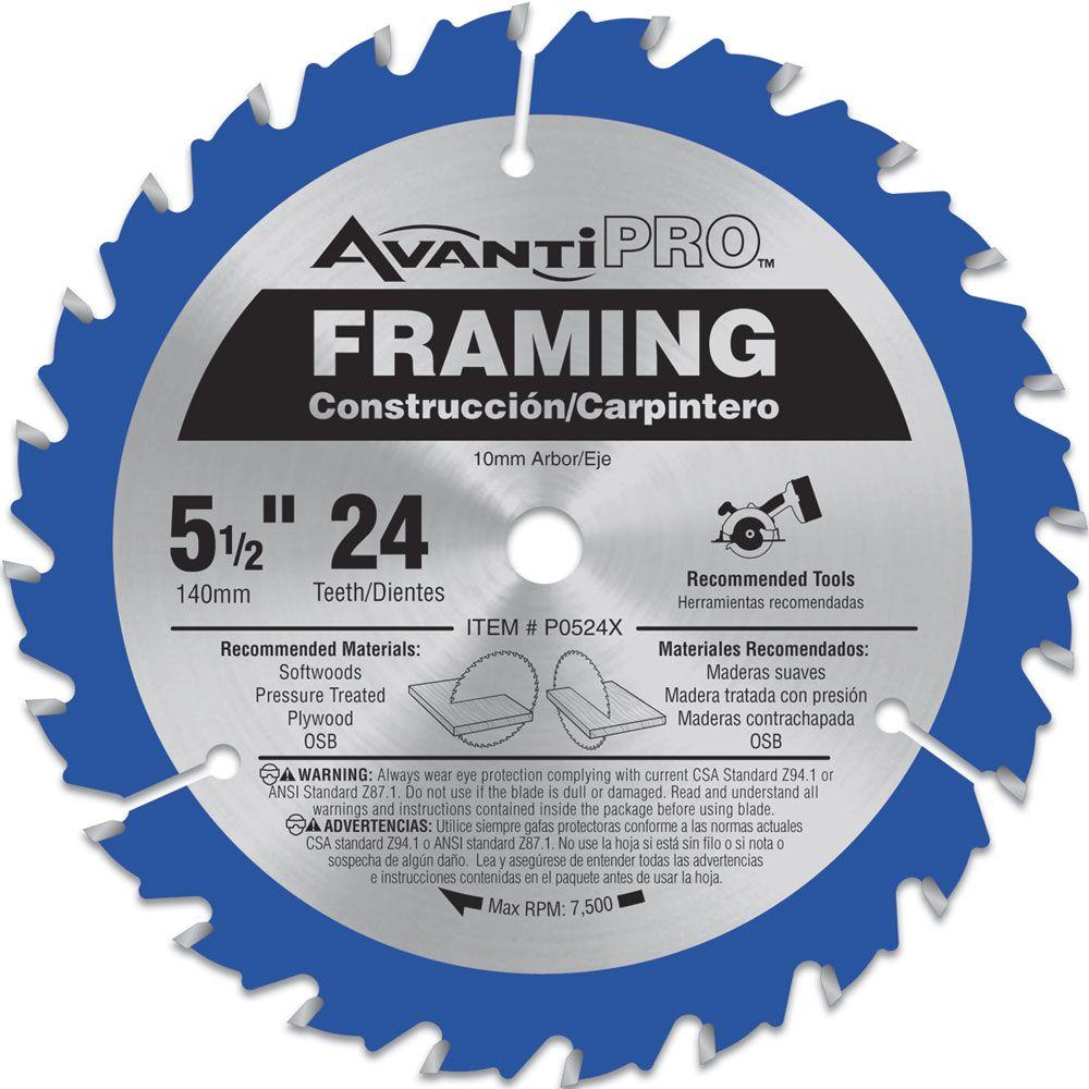 5-1/2 in. x 24-Tooth Framing Saw Blade