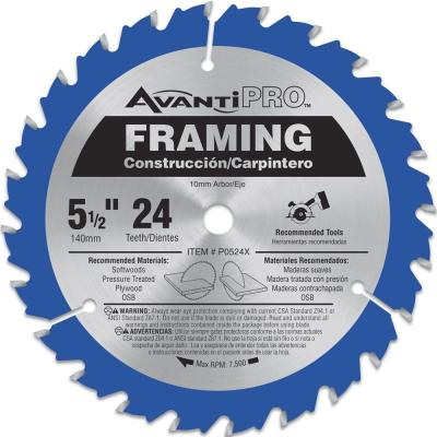 5-1/2 in. x 24-Teeth Framing Saw Blade