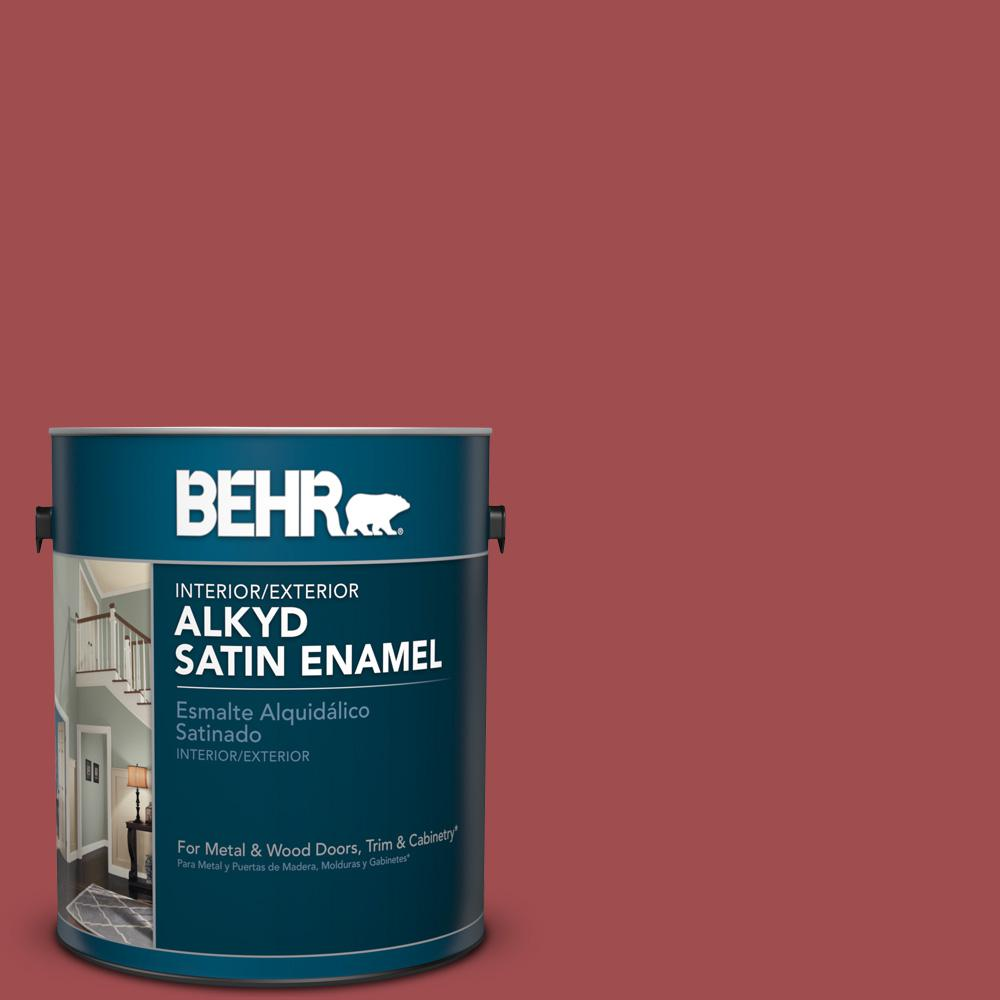 1 gal. #M150-7 Sweet Cherry Satin Enamel Alkyd Interior/Exterior Paint