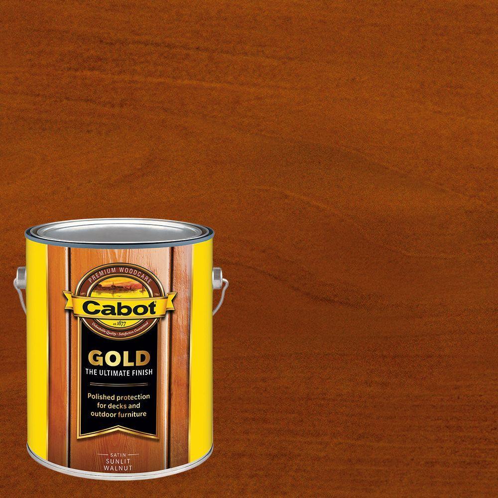 1 gal. Sunlit Walnut Gold Oil Exterior Deck Varnish