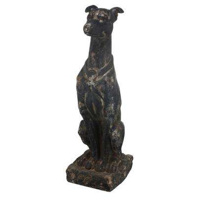 31 in. Magnesia Dog Statue
