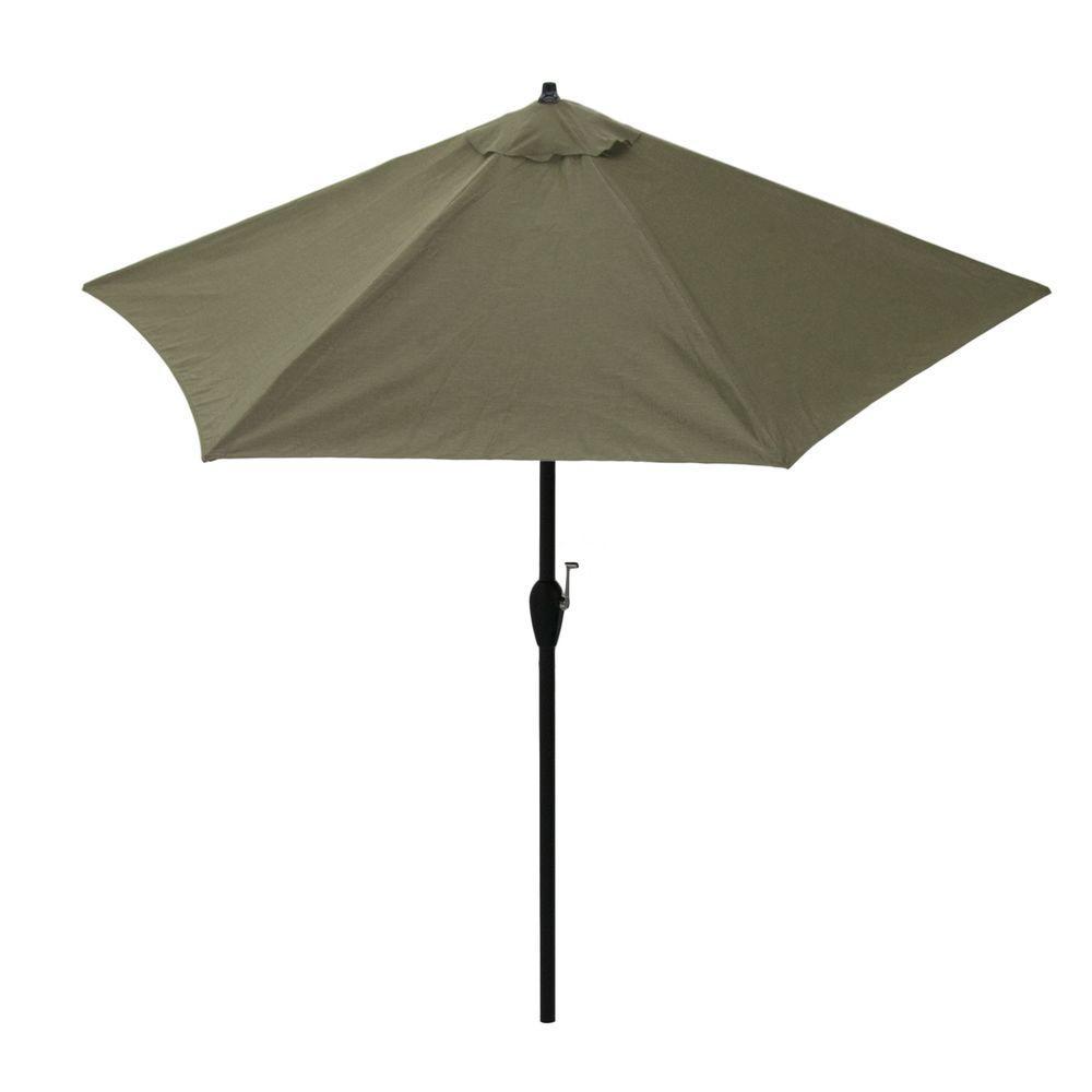 null 9 ft. Aluminum Patio Umbrella in Celery