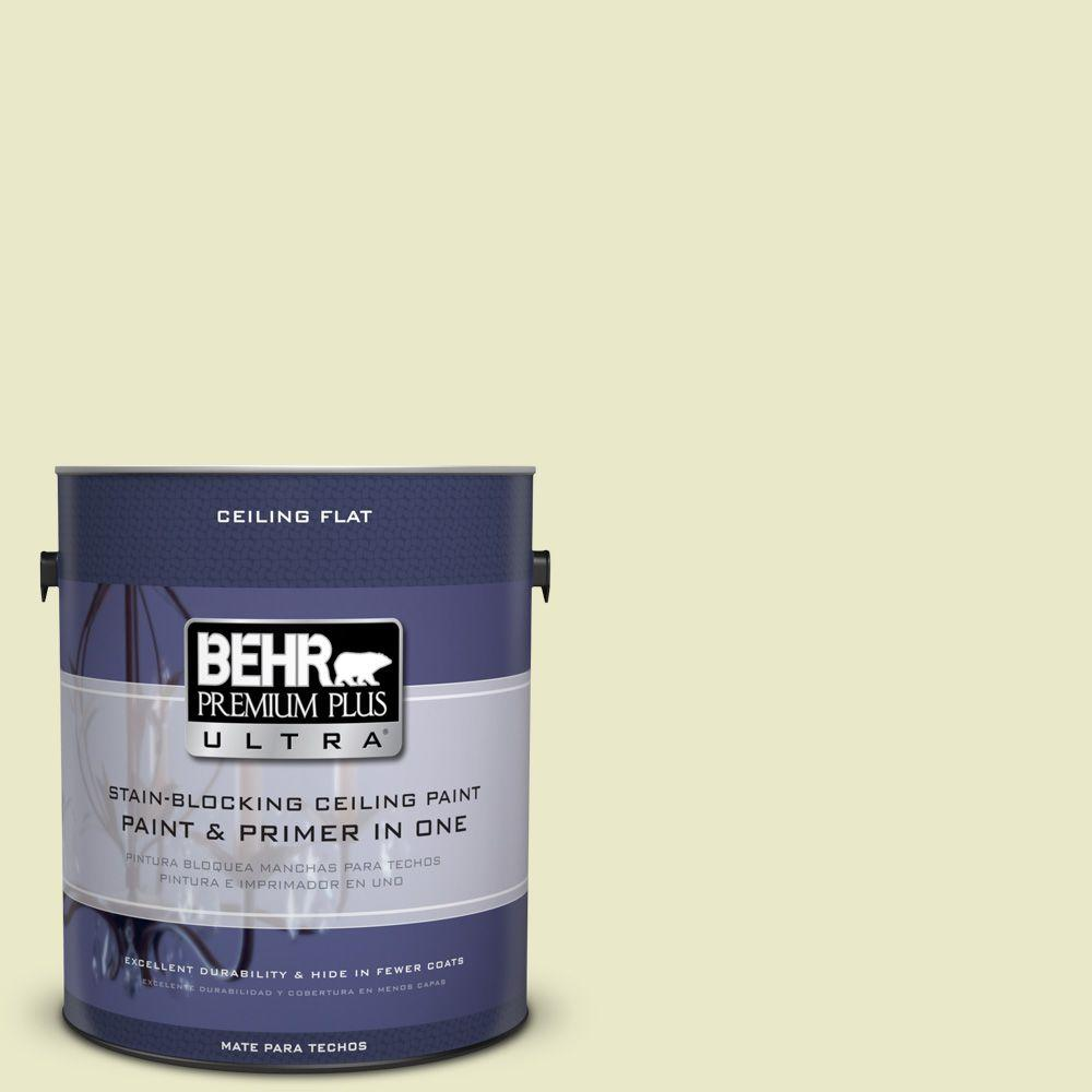 BEHR Premium Plus Ultra 1-gal. #PPU9-16 Ceiling Tinted to Pale Celery Interior Paint