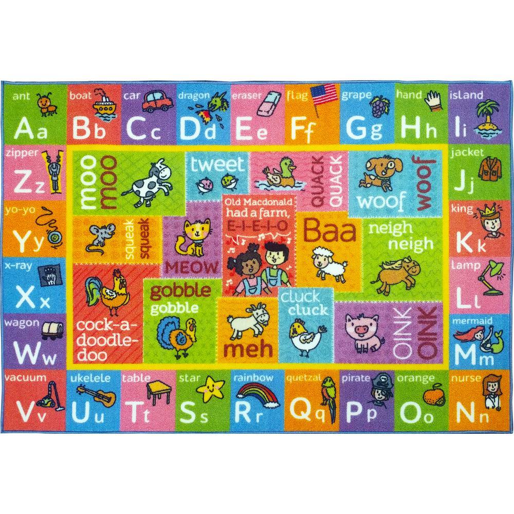 KC CUBS Multi-Color Kids Children Bedroom ABC Alphabet