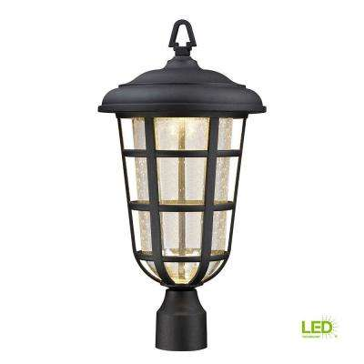 Triton Black Outdoor LED Post Lantern