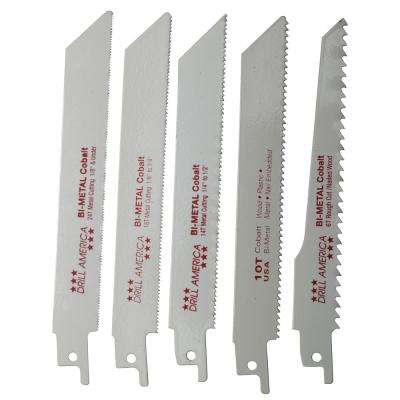 Piece Reciprocating Saw Blade Set (5-Pieces)