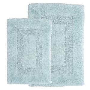 Lavish Home Seafoam 1 ft. 10 inch x 2 ft. 11 inch Cotton 2-Piece Bath Rug Set by Lavish Home