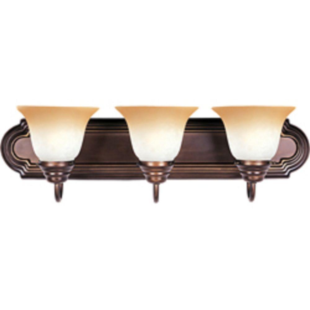 Essentials 3-Light Oil Rubbed Bronze Bath Vanity Light