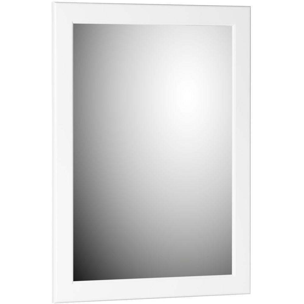 Simplicity by Strasser Ultraline 24 in. W x .75 in. D x 32 in. H Framed Wall Mirror in Satin White
