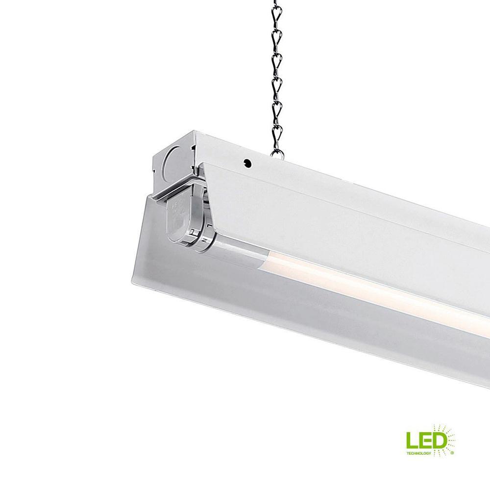 1 light white led shop light with t8 led 4000k tubes