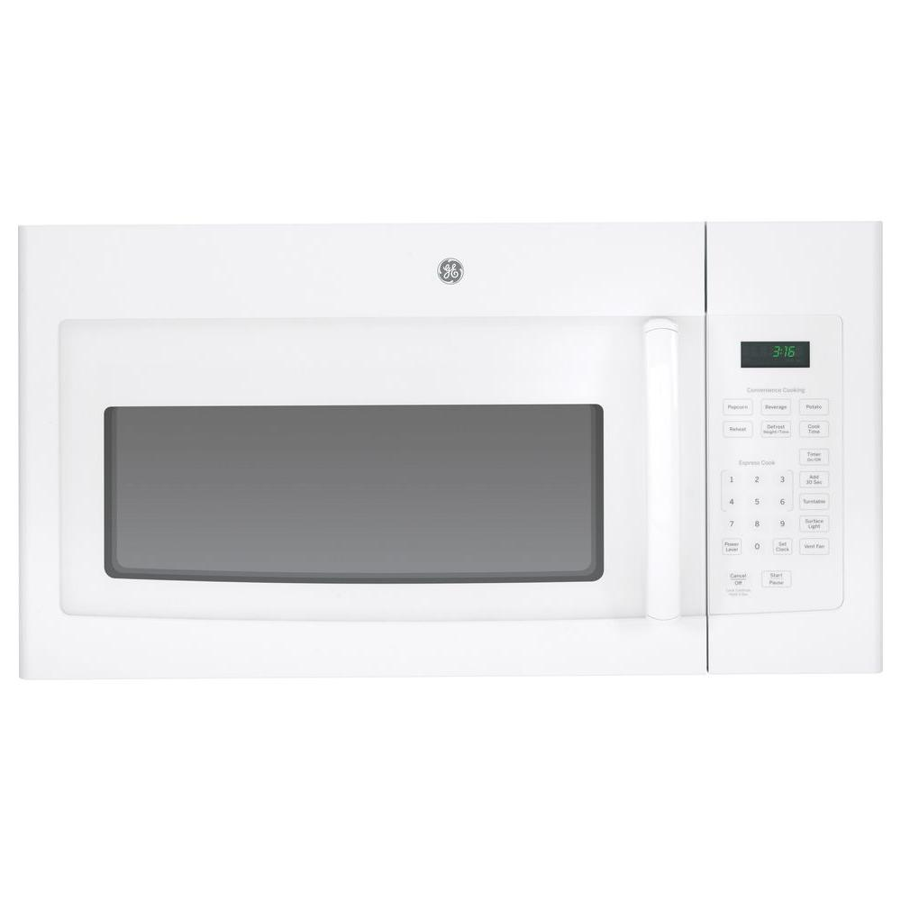 GE 1.6 cu. ft. Over the Range Microwave in White