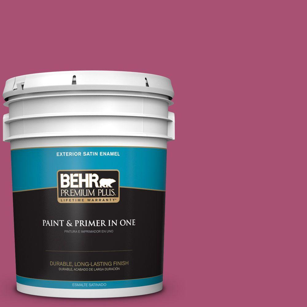 5-gal. #110B-6 Cran Brook Satin Enamel Exterior Paint
