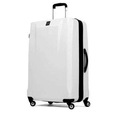 High Loader 25 in. Upright White Spinner Rolling Luggage Suitcase ABS Hard Case