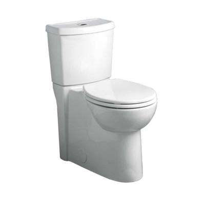 Studio Dual 2-Piece 1.6 GPF Dual Flush Elongated Toilet in White