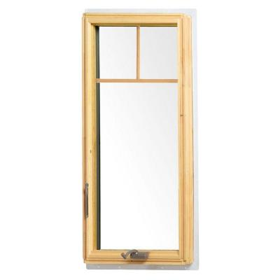 24.125 in. x 48 in. 400 Series Casement Wood Window with White Exterior and Fractional Grilles