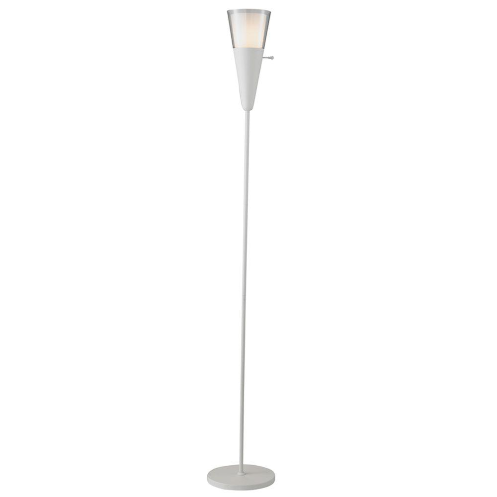 Adesso Beacon 70 in. White Floor Lamp-DISCONTINUED
