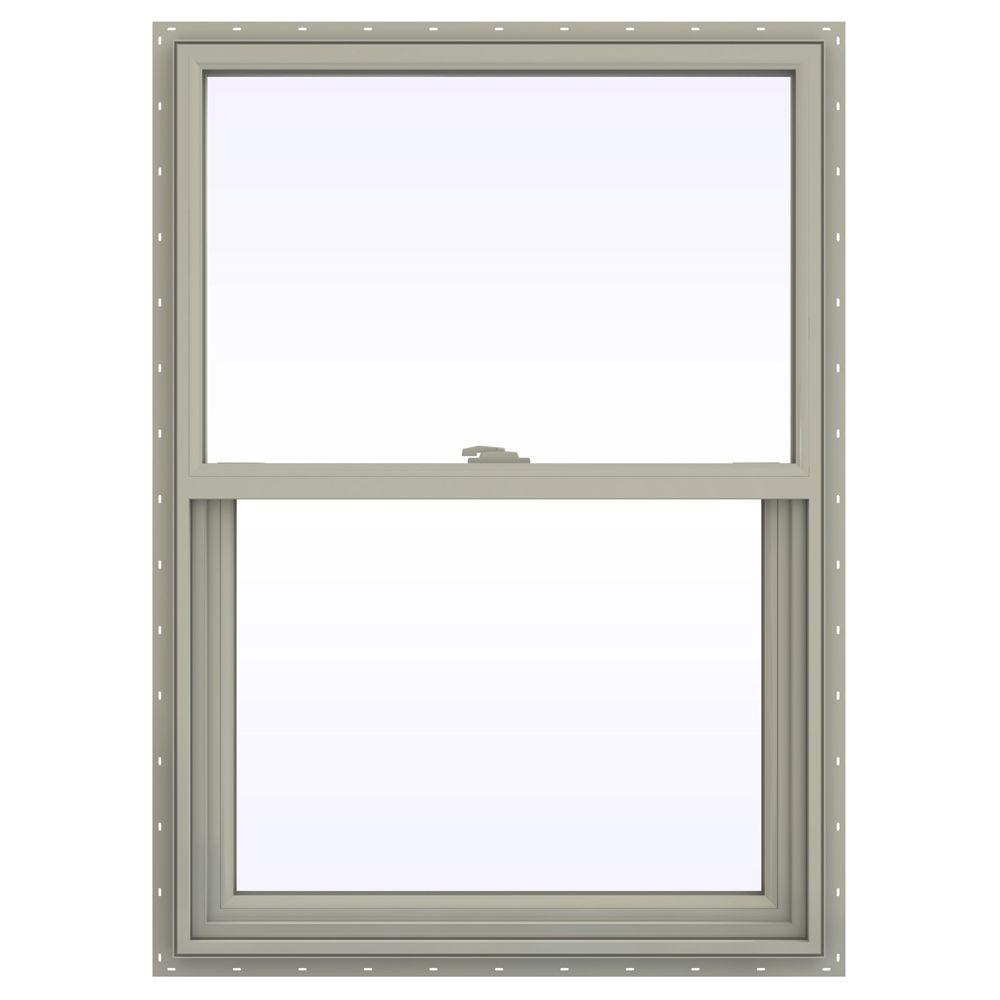 29.5 in. x 47.5 in. V-2500 Series Single Hung Vinyl Window
