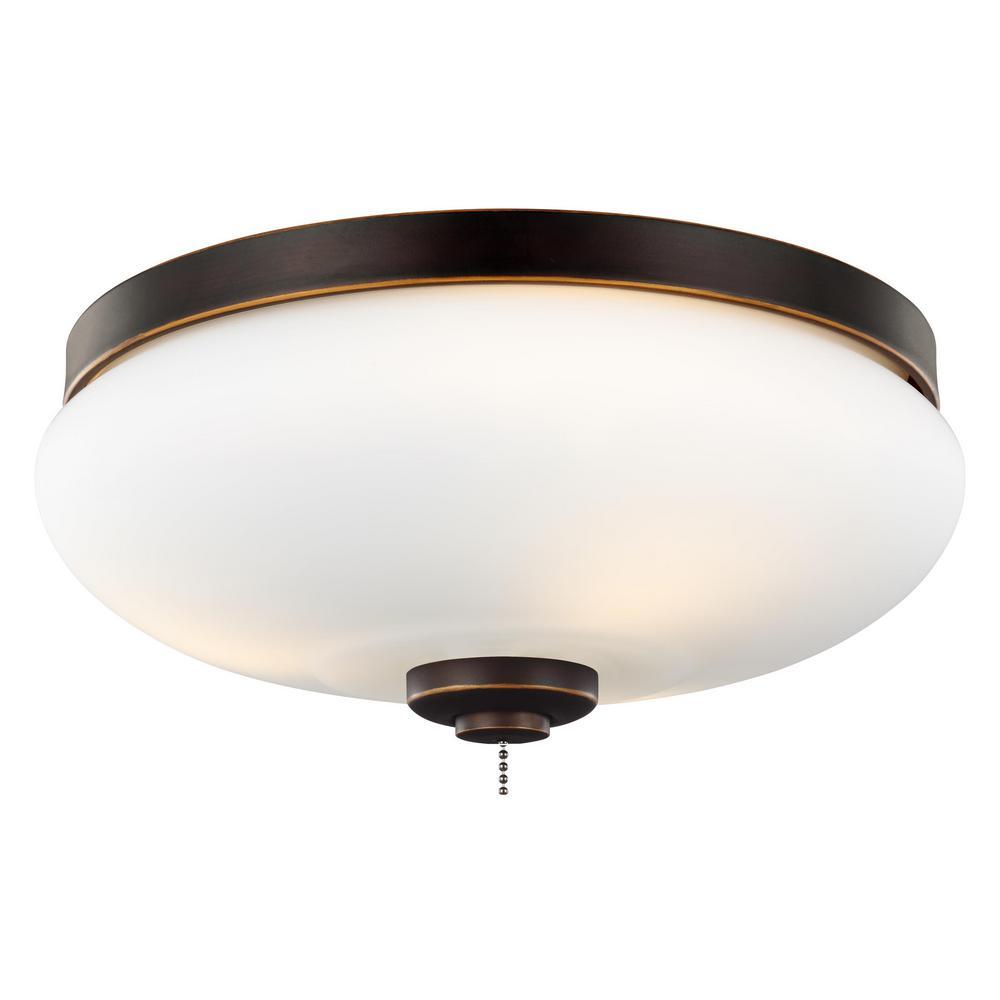 3-Light Outdoor LED Ceiling Fan Light Kit