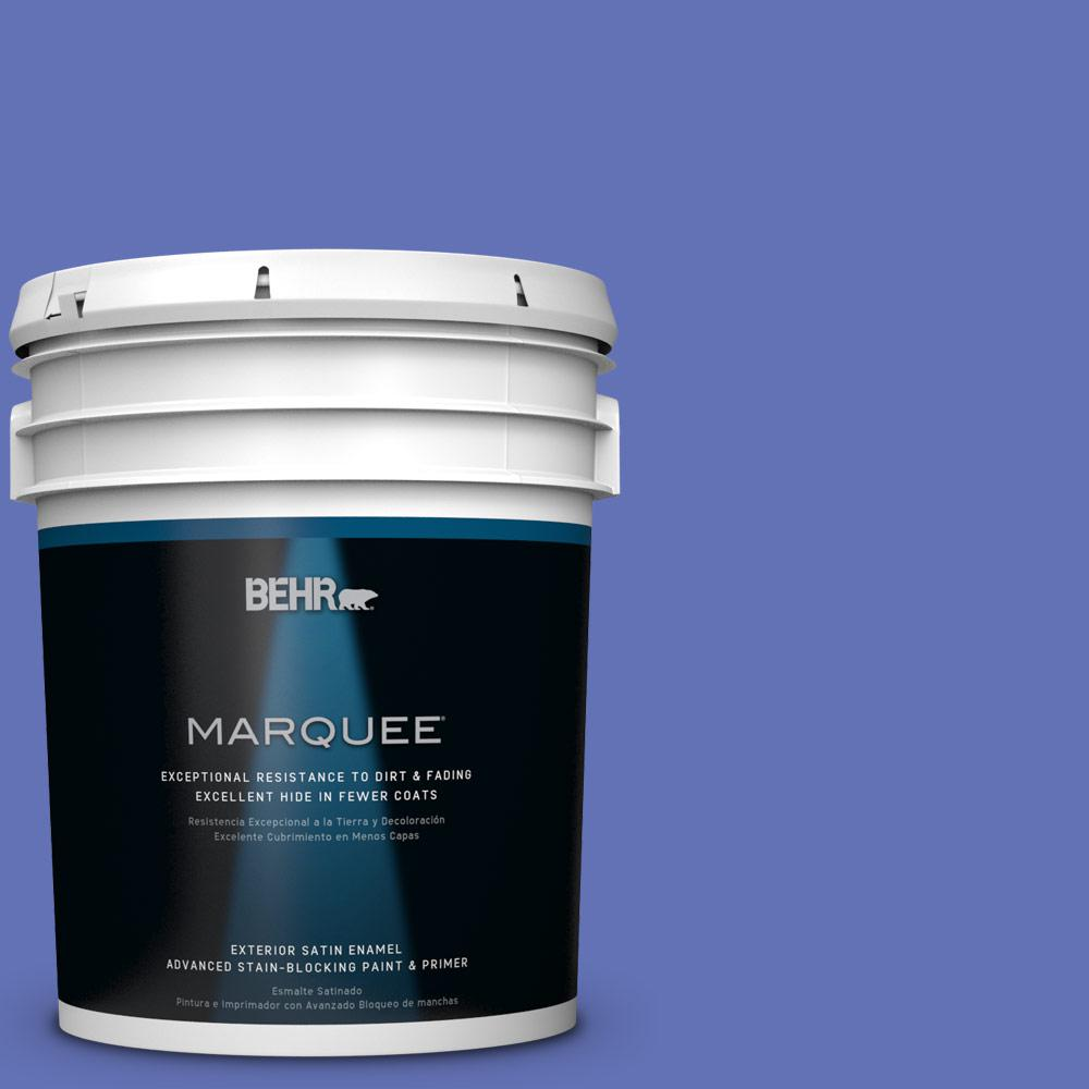 BEHR MARQUEE 5-gal. #P540-6 Wild Pansy Satin Enamel Exterior Paint
