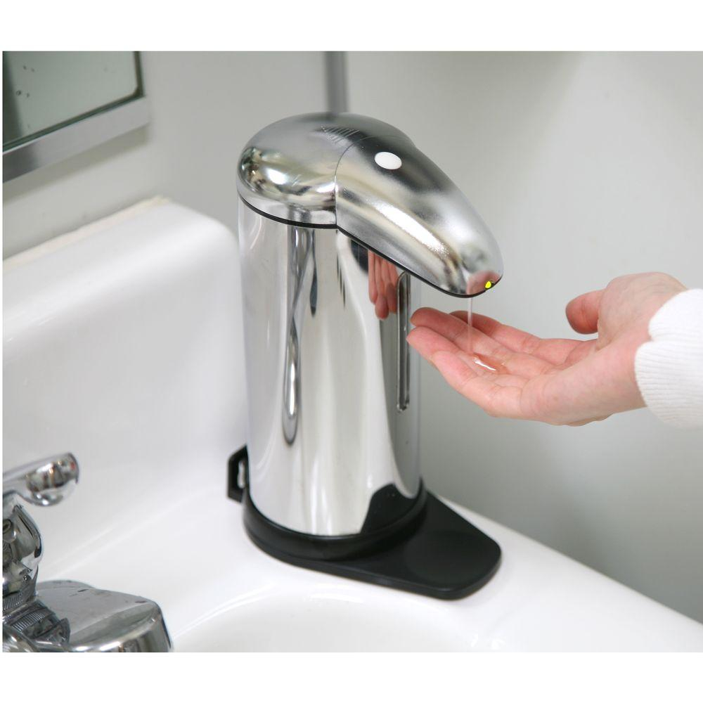 iTouchless Wall-Mount Touch-Free Sensor Soap Dispenser in Stainless Steel