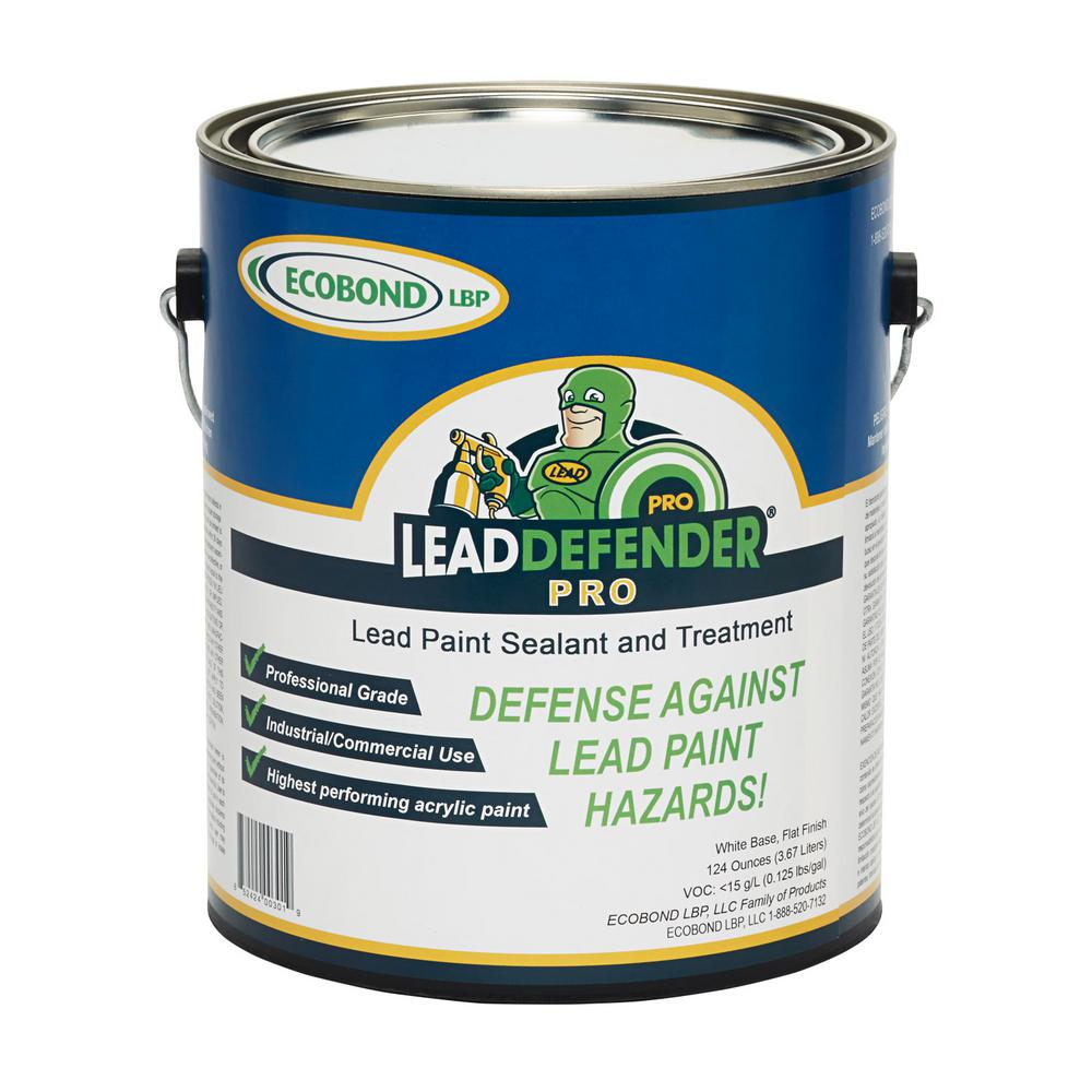 Ecobond Lbp Lead Defender Pro 1 Gal Off White Flat Based Paint Treatment And Sealant