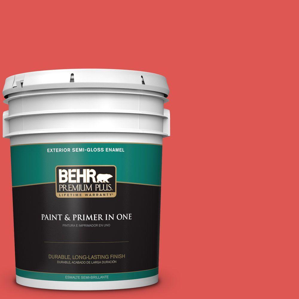 BEHR Premium Plus 5-gal. #170B-6 Lipstick Semi-Gloss Enamel Exterior Paint