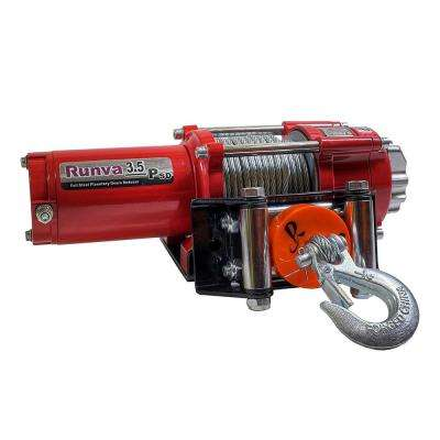 3,500 lbs. Capacity 12-Volt Electric Winch with 42 ft. Steel Cable Super Deluxe Package